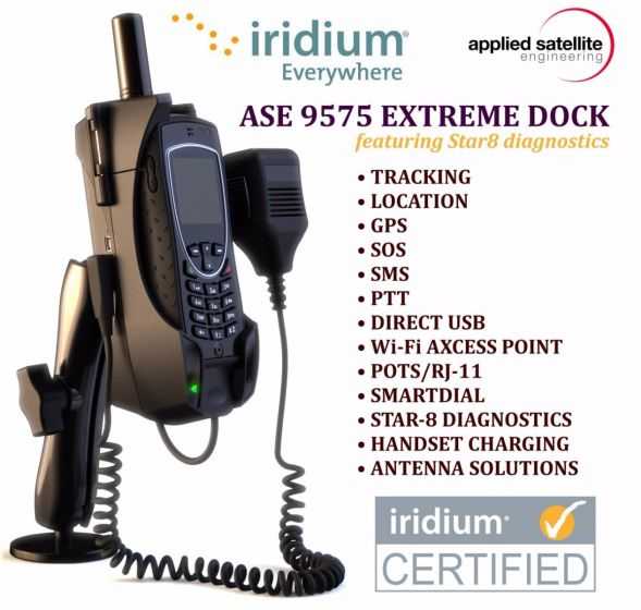 ASE 9575 (Iridium Extreme) Docking Station with Privacy Handset