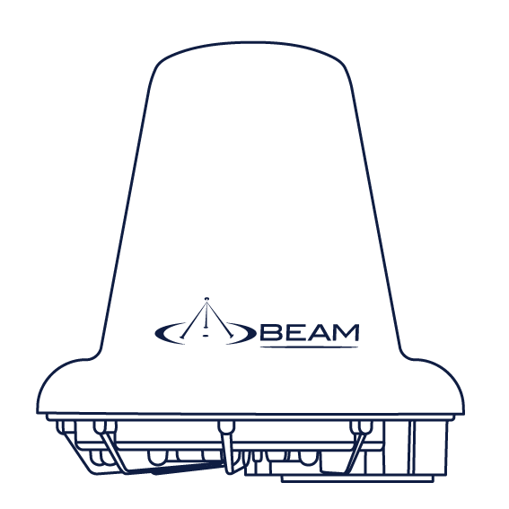 Beam Iridium Active Antenna RST740 drawing