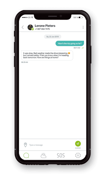 Global 2-way messaging (text/SMS, email and app-to-app)